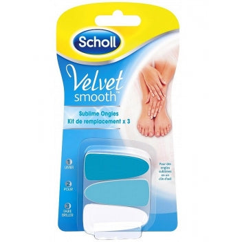SCHOLL SCHOLL VELVET SMOOTH Recharges sublime ongle x3