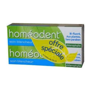 BOIRON HOMEODENT Soin complet dentifrice chlorophylle 2Tubes/75ml