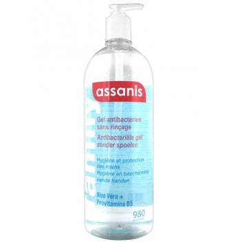 BLUE SKIN ASSANIS FAMILY Gel antibactérien main sans parfum Fl pompe/ 980ml