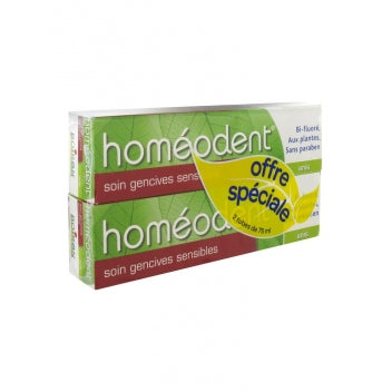 BOIRON HOMEODENT Soin gencives sensibles dentifrice anis 2Tube/75ml