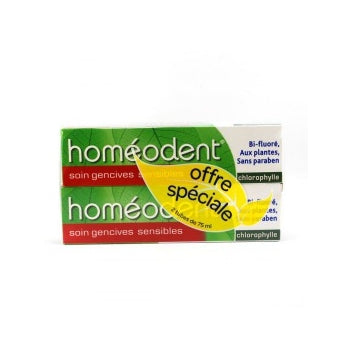 BOIRON HOMEODENT Soin gencives sensibles dentifrice chlorophylle 2Tube/75ml
