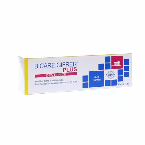 GIFRER - Dentifrice BICARE PLUS 75ml