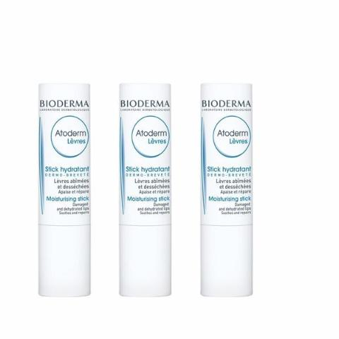 BIODERMA - ATODERM Lot de 3 STICK LEVRES 4g