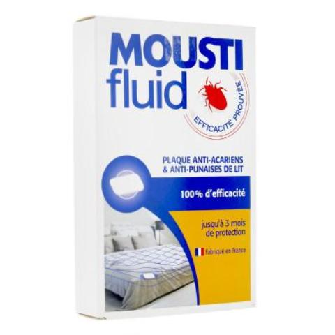 GIFRER - MOUSTIFLUID Plaque anti-acariens et anti-punaises de lit