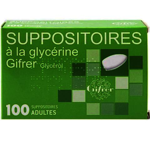 GIFRER - SUPPOSITOIRES GLYCERINE , adulte Bte/100