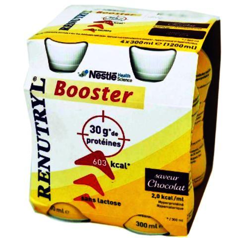 Nestlé RENUTRYL BOOSTER Chocolat Pack/4x300ml
