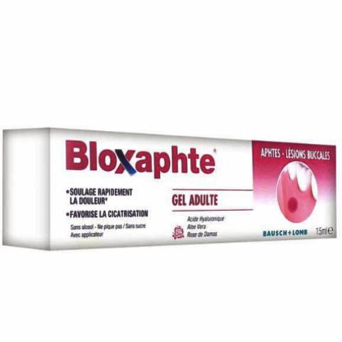 CHAUVIN BAUSCH & LOMB BLOXAPHTE Gel buccal aphtes adulte Tube/15ml