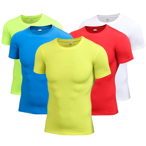 Men's Basic Fitted Running Short Sleeve Top