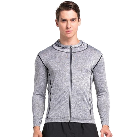 Men's Long Sleeve Zipper Top
