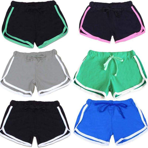 Women's Basic Fitted Drawstring Shorts