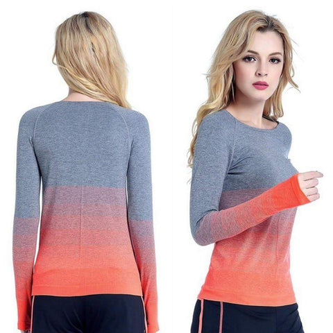 Women's Ombre Long Sleeve Top