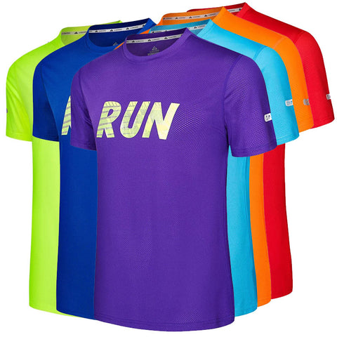 Men's Classic Short Sleeve RUN Print Top