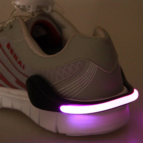 Safety Glow-In-The-Dark LED Shoe Clip