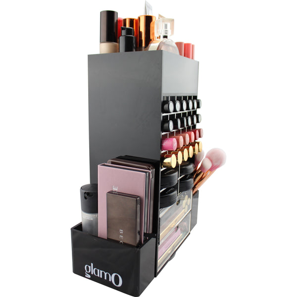 Chic Spinning Makeup Tower (BLACK)