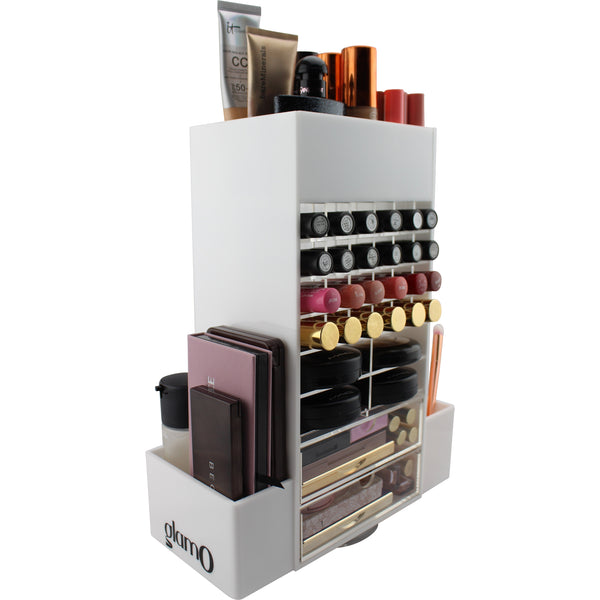 Chic Spinning Makeup Tower (WHITE)