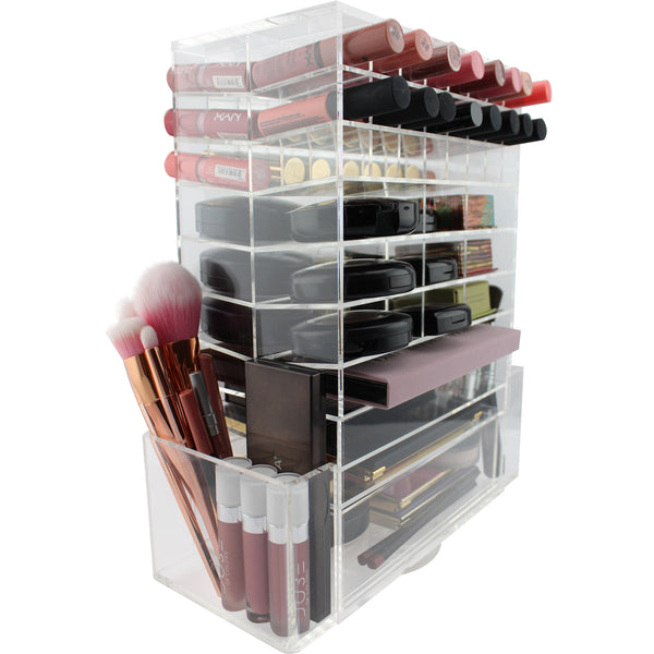glamO Acrylic Ultimate Makeup Spinning Tower (Clear)