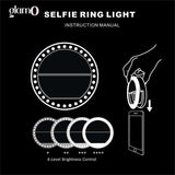 Rose Gold Selfie Beauty Ring Light (Clip-on, USB Rechargeable)