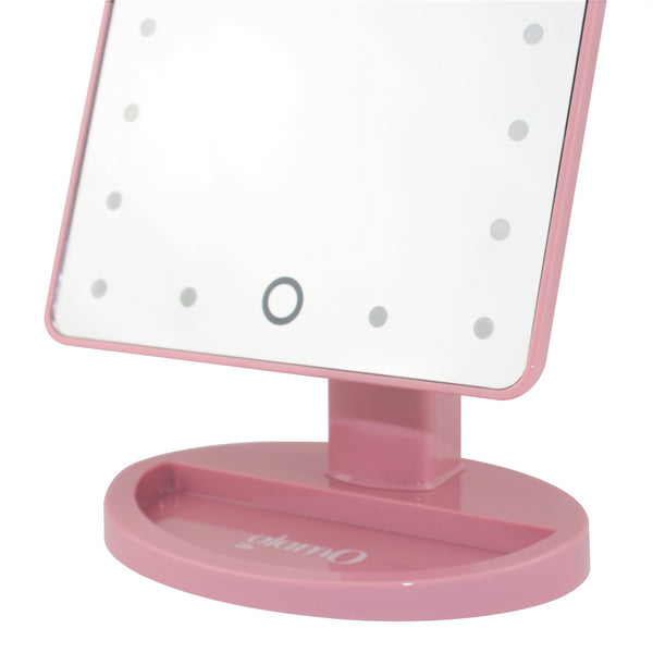 glamO Touch and Glow LED Makeup Mirror (Rose Quartz)