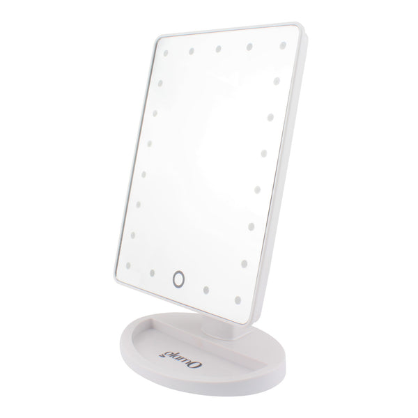 glamO Touch and Glow LED Makeup Mirror (White)