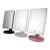 glamO Touch and Glow LED Makeup Mirror - High Gloss