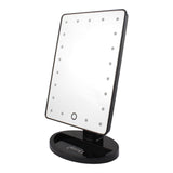glamO Touch and Glow LED Makeup Mirror (Black)