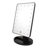 Touch and Glow Dimmable LED Makeup Mirror - MATTE (Black or White)