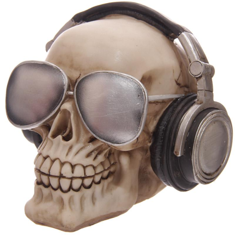 DJ Human Skull Decoration Money-Box