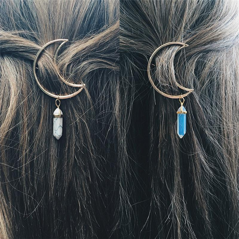 Crescent Moon Hair Clips