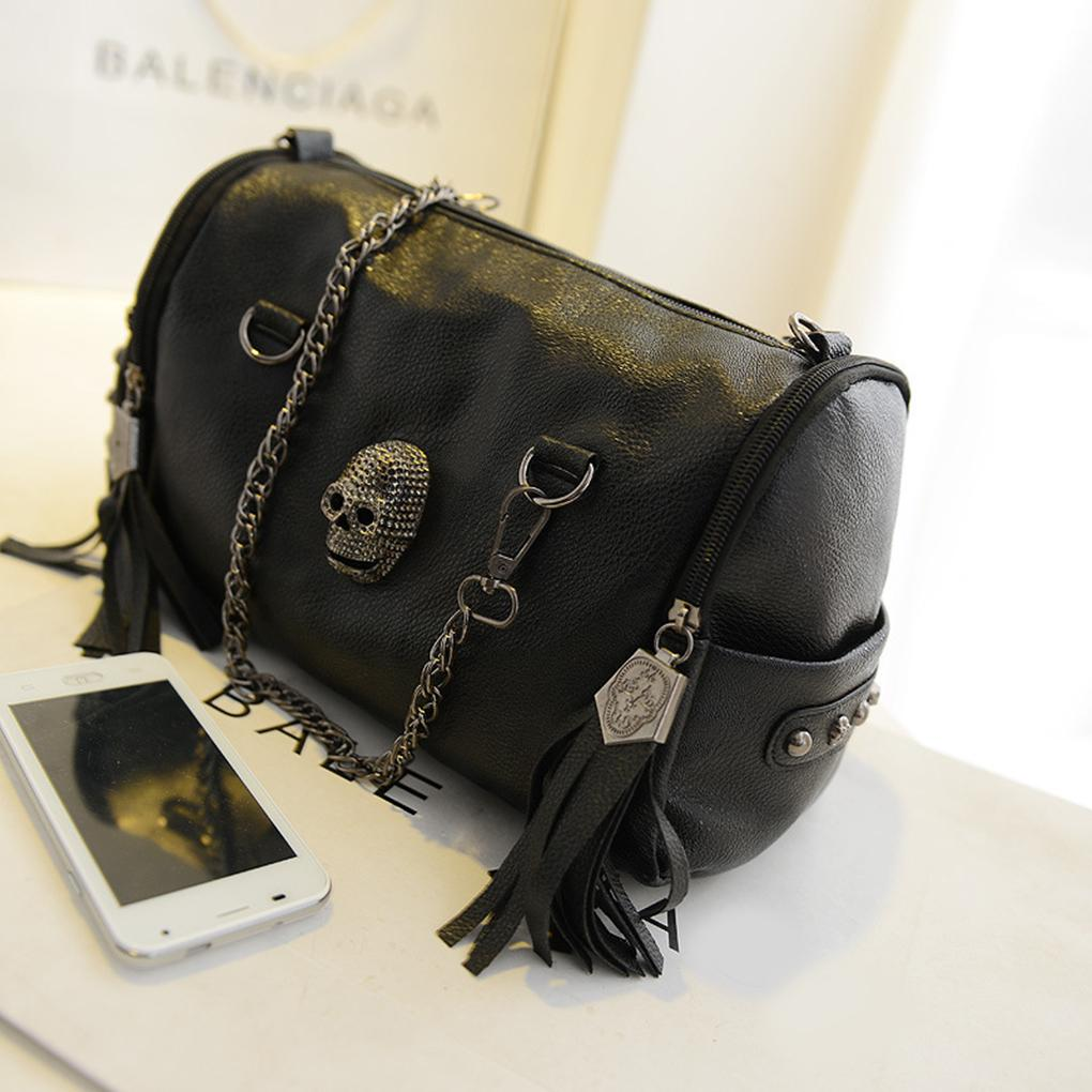 Leather Skull Handbag