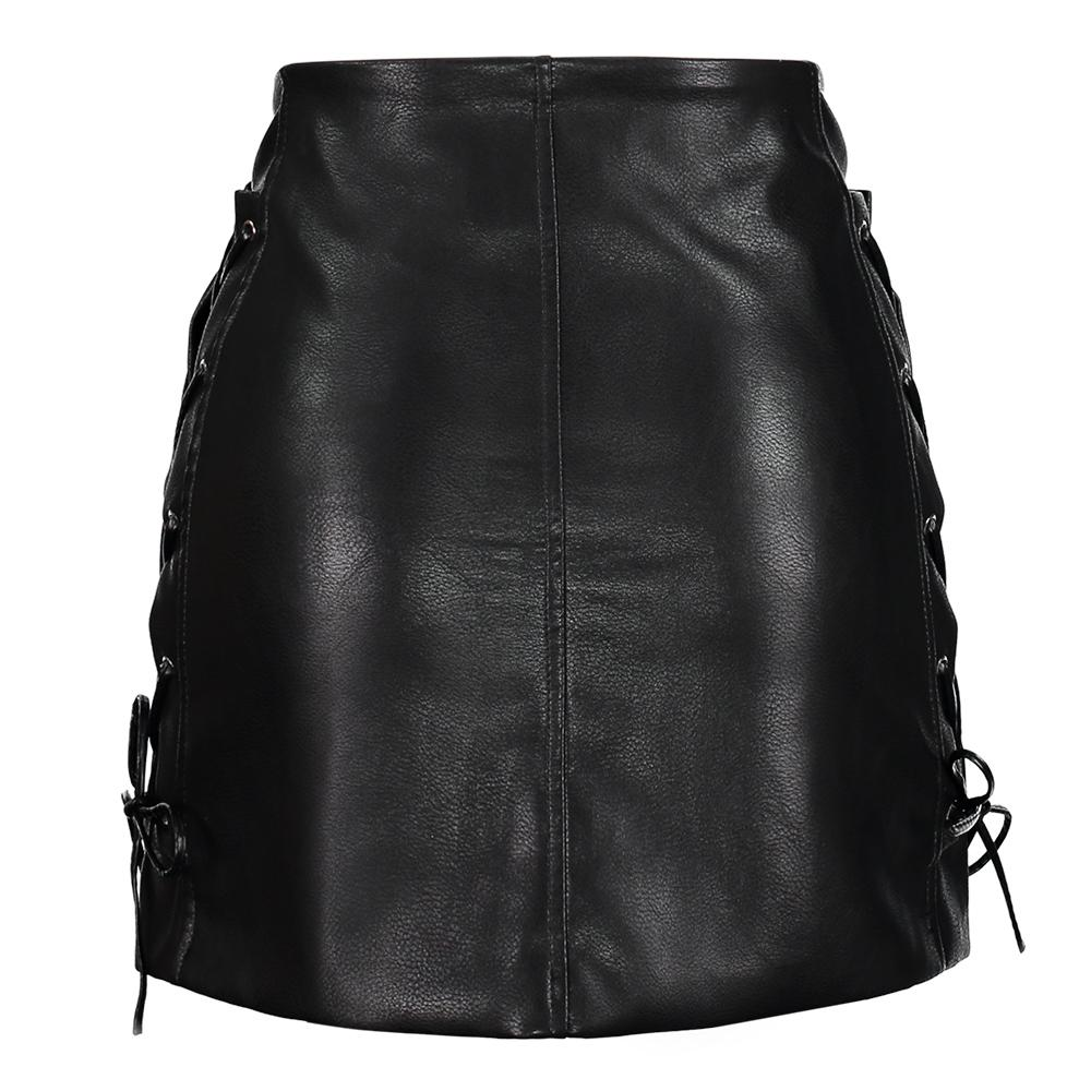 Gothic Faux Leather Skirt