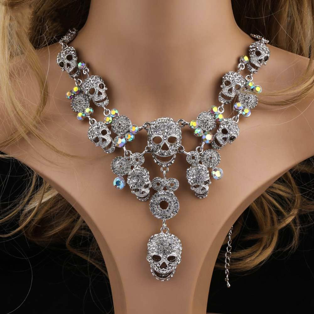 Skeleptico™ - Crystal Skull Necklace