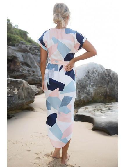 Geometric Pencil Dress