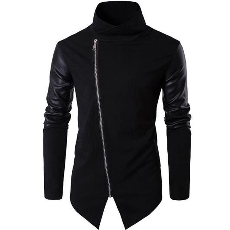 Men's Faux Leather Coat-Jacket