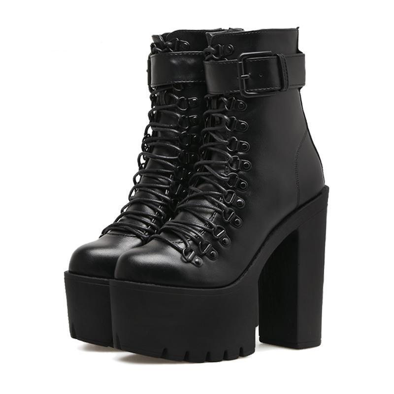 5703b28cbd90 Gothic Ankle Boots Motorcycle Boots – Trends Hill