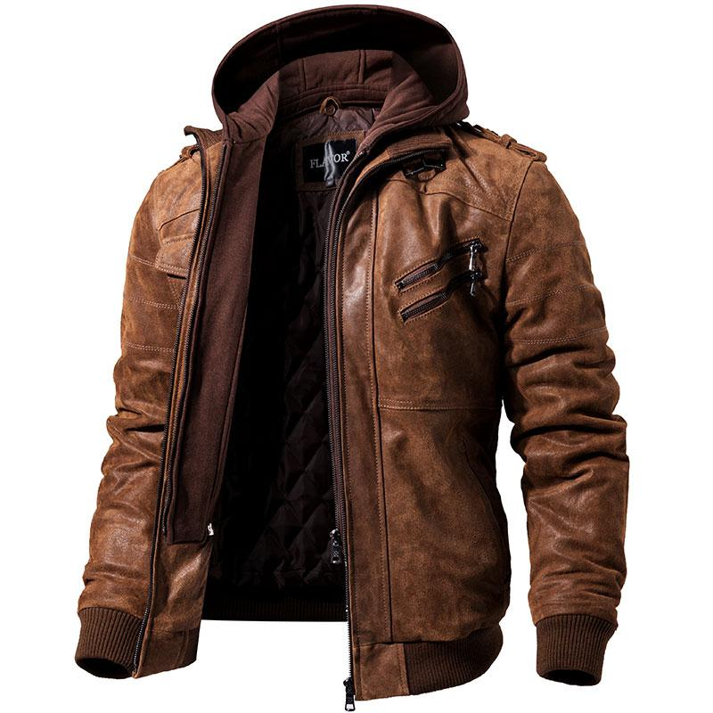 0bc95716a27 Men's Leather Jacket Motorcycle Jacket – Trends Hill