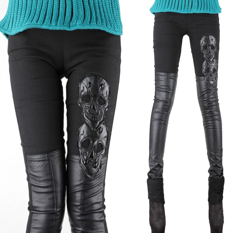 Skull Leather Pants