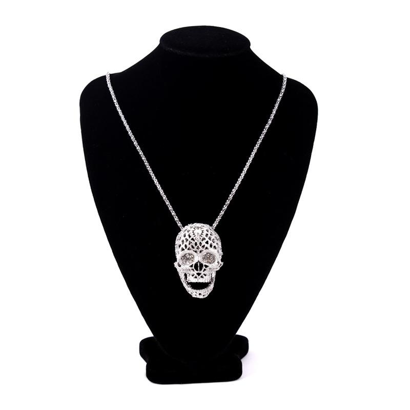 Crystal skull necklace trendshill crystal skull necklace mozeypictures Images