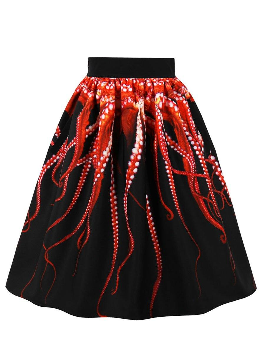 Women's Gothic Octopus Skirt