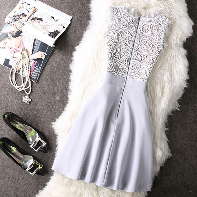 Incandescent Sleeveless Lace Dress