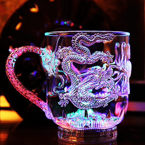 LED Dragon Mug
