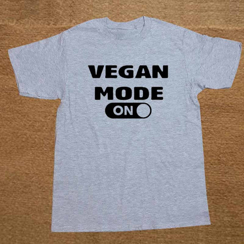 New!! Mens Vegan Mode On/Off Switch T-Shirt