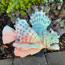 Original Alan & Rosemary Bennett Lionfish Wall Sculpture