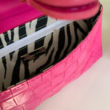 Adrienne Vittadini Pink Textured Clutch Purse - Lady Slippers