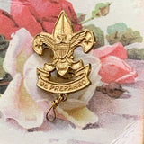 Vintage B.S. of A. Pat 1911 Be Prepared Pin - Lady Slippers