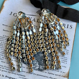 Vintage Eye Catching Rhinestone Dangling Earrings