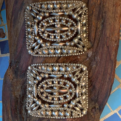 Two Victorian Cut Steel Sash Buckles