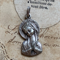 Sterling Silver Our Lady of Fatima Pendant - Lady Slippers