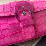 Adrienne Vittadini Pink Textured Clutch Purse