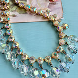 Multi-Faceted Rhinestone & Crystal Bead Necklace