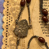 Antique French Plastic Bead Rosary - Lady Slippers